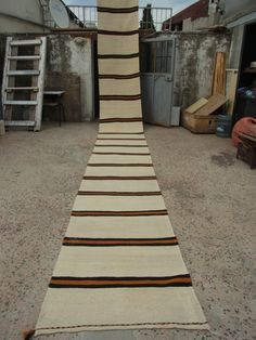 23'4''X2'4'' Long Hand Woven Wool Stair RunnerRug RunnerKilim Rug by zkrugs