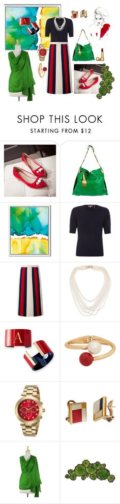 """The Grass Is Always Greener..."" by texasyoyo ❤ liked on Polyvore featuring JY Shoes, Gucci, West Elm, Repeat Cashmere, Oscar de la Renta, Mark & Graham, MANGO, Cabochon, NOVICA and Moe's Home Collection"