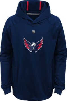 NHL Youth Washington Capitals Mach Red Pullover Hoodie 782dc2a42f2cf