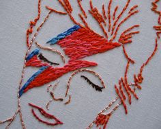 David Bowie Embroidery Pattern by Speckless on Etsy