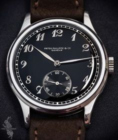 What CHF 1'445'000 can get you nowadays possibly unique Patek Philippe Calatrava ref. 530 in steel with black dial and Breguet numerals from 1941, sold at @phillipswatches last weekend.