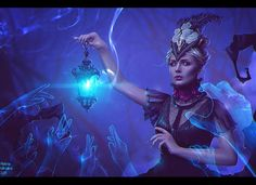 Guide of Souls + Video (Commission) by Nikulina-Helena on DeviantArt - Ostergeschenke Basteln Christina Ricci, Digital Art Gallery, Online Art Gallery, Fantasy Rpg, Dark Fantasy, Death Note, Skin Walker, Indie, Speed Art
