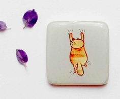 FREE SHIPPING Cat gift magnet Gift for cat lovers by Dinabijushop