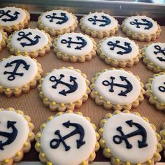 new Ideas baby shower food nautical sugar cookies Nautical Party, Nautical Wedding, Nautical Anchor, Best Baby Shower Gifts, Baby Boy Shower, Anchor Cookies, Girl Baby Shower Decorations, Sweet 16 Parties, Baby Shower Cookies