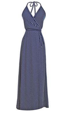 Halter Wrap Maxi Dress