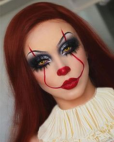Never quit clowning Clown Makeup clowning quit Halloween Makeup Clown, Amazing Halloween Makeup, Clown Makeup, Batgirl Makeup, Red Head Halloween Costumes, Medusa Makeup, Cartoon Makeup, Scarecrow Makeup, Carnival Makeup