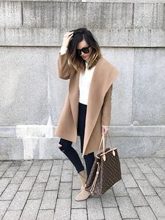oversized shawl collar + camels