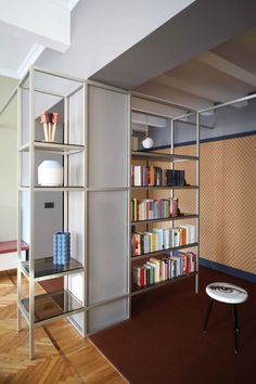 book shelf detail Metaphisical Remix Apartment by UDA Architetti | Yellowtrace