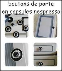 boutons de portes avec des capsules