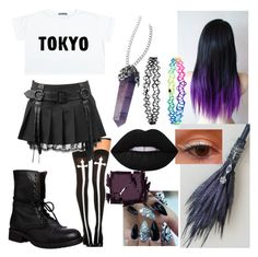 """""""witch oc"""" by chilcotea201 ❤ liked on Polyvore featuring Chicnova Fashion, Steve Madden, Accessorize, Lime Crime and Surratt"""