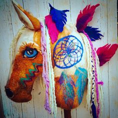 Custom hand felted hobby horse 'The Dream Catcher' by wildwoollies