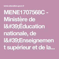 MENE1707568C - Ministère de l'Éducation nationale, de l'Enseignement supérieur et de la Recherche