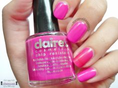 Maria's nail: 196. Claire's Neon - Purple  http://mariasnail.blogspot.nl/2013/08/196-claires-neon-purple.html