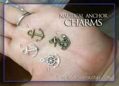 Nautical anchors and rudders charms DIY YW crafts. Pack of 10. Girls Camp or Youth Conference LDS Embark in the Service of God