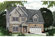 House Plan 96999 | Traditional    Plan with 2477 Sq. Ft., 4 Bedrooms, 4 Bathrooms, 2 Car Garage