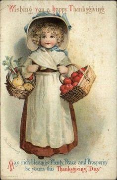 postcard.quenalbertini: Vintage Thanksgiving Card