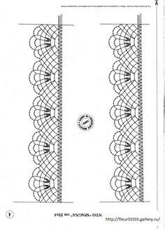 Gallery.ru / Фото #12 - 186 - Fleur55555 Bobbin Lace Patterns, Tatting Patterns, Crochet Patterns, Crochet Doilies, Crochet Stitches, Knit Crochet, Bobbin Lacemaking, Lace Painting, Needle Lace