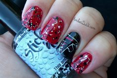 Amber did it!: NFL Nail Art Series #8 ~ Atlanta Falcons