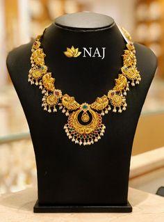 BIG SALE-BIG SALE-BIG SALE....Only @ NAJ NO WASTAGE - NO MAKING - NO STONE COST....Available Only @ NAJ Jewellery Nellore. Call or WhatsApp @ 9032041323 #MyFavouriteNAJ #southindianjewellery  #ruby  #fashionjewellery #jewellery #fashion #nellore #bengaluru #hyderabad #chennai #teluguinusa #telugu Diy Necklace, Necklace Designs, Pendant Necklace, Bridal Jewelry, Gold Jewelry, Gold Necklaces, India Jewelry, Jewellery, 11. September