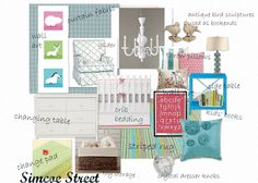 Simcoe Street: Blue, Pink & Green Baby Girl's Nursery