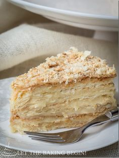Russian Napoleon Cake is the ultimate Napoleon Cake and a cousin of the traditional Napoleon Recipe, it is made of crispy layers of puff pastry, sandwiched together with creamy and buttery custard.