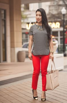 Cute Red Dress Pants