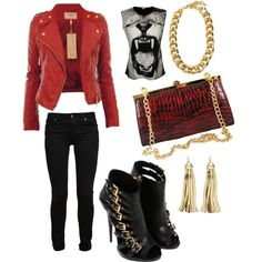 """""""Club wear!"""" styled by uniquexchange on @Polyvore #MBStyled featuring the 'Vanessa' frame #clutch #handbag"""