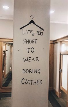 life is too short to wear boring clothes. The Words, Pretty Words, Beautiful Words, Words Quotes, Life Quotes, Sayings, Happy Vibes, Photo Wall Collage, Quote Aesthetic