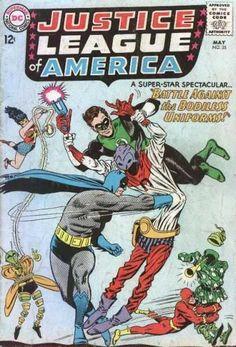Old Comic Book - Collector Book - Green Person - Dc Comics - Superhero Battle