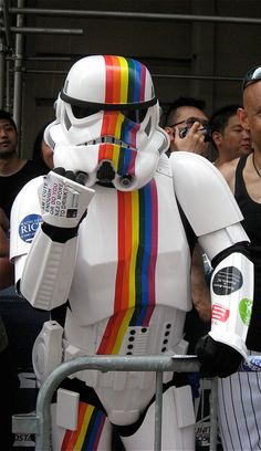 Star Wars Pride NYC -- Rainbow Gay 5x7 -- Fine Art Photograph. $20.00, via Etsy.