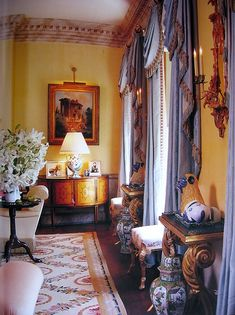 7 Gorgeous Interiors with Aubusson Rugs from AD and Pinterest