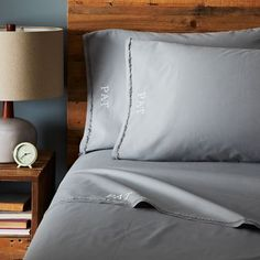 Organic Cotton Frayed-Edge Sheet Set - Feather Gray | West Elm