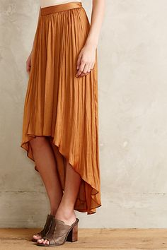Maya High-Low Maxi Skirt #anthrofav #greigedesign