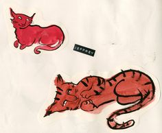 Development work for 'There are Cats in This Book' by Viviane Schwarz