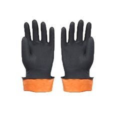 Cojoy Reusable Household Washing Cleaning Gloves Latex Free Protection Safety Gloves with FDA Certificate for Kitchen Finshing Chemurgy Black L 2 Pair: AmazonSmile: Industrial & Scientific