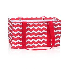 BeABagLady.com I LOVE THE RED CHEVRON! Medium Utility Tote in Red Chevron for $30 - This returning favorite is only available through November! Offered in new fall prints and exclusive prints, too, this tote is the perfect size for groceries, laundry products or hauling holiday gifts and goodies. It does double-duty in the pantry or linen closet for all your storage needs. Add a Medium Top-A-Tote lid to make it even more functional. Via @thirtyonegifts