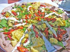 Blue Corn Flour Pizza in Santa Fe, New Mexico