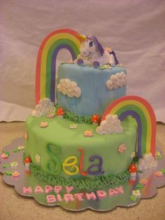 Unicorn cake... rainbow sunshine