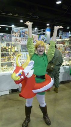 Toon Link + King of Red Lions awesome costume!