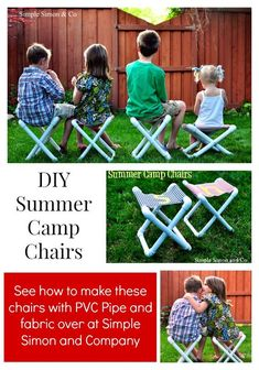 Summer Camp Chair Tutorial (That you can make yourself - Camping Chair - Ideas of Camping Chair - Summer Camp Chair Tutorial (That you can make yourself!) Simple Simon and Company