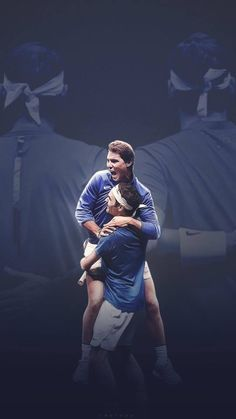 Amazing image that represents well the emotions of this #LaverCup #Federer #Nadal image by @_CHELOpy