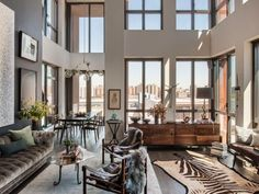 This Indulgently-Decorated Duplex in Dumbo Wants $4.3M - That's Rather Lovely - Curbed NY