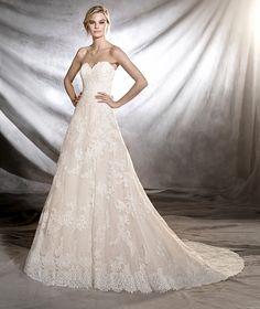 ONIA - Vestido de novia de estilo princesa y talle bajo