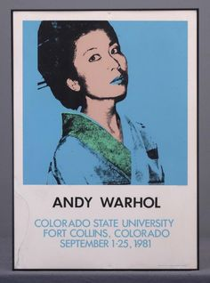 Buy online, view images and see past prices for Andy Warhol Exhibition Poster. Invaluable is the world's largest marketplace for art, antiques, and collectibles.