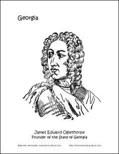 georgia wordsearch crossword puzzle and more georgia coloring page james edward oglethorpe
