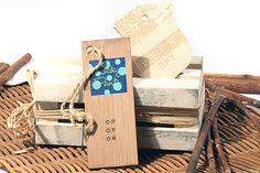Custom wood hang tags