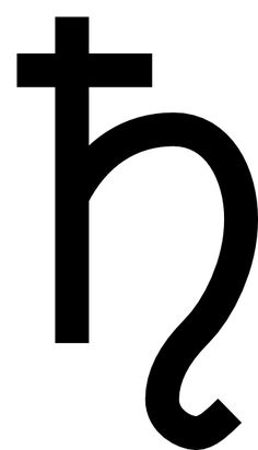 Planetary symbol for Saturn