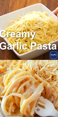 pasta recipes *VIDEO* Creamy Garlic Pasta - If you love flavorful one pot meals, youve got to try our family favorite Creamy Garlic Pasta! A one pot meal at its finest. My kids ask for seconds! Pasta Side Dishes, Pasta Sides, Food Dishes, One Pot Dishes, One Pot Pasta, Easy Pasta Recipes, Spaghetti Recipes, Easy Meals, Recipe For Pasta Dishes