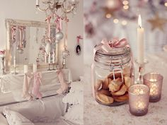 nelly vintage home: Коледно розово