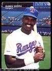 1990 Mothers Cookies Baseball Card #3 RUBEN SIERRA TEXAS RANGERS